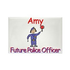 Amy - Future Police Rectangle Magnet