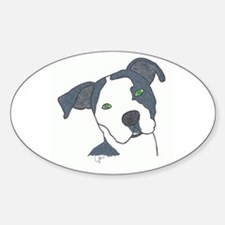 Brindle Oval Decal