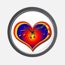 Musical Heart Glow - Wall Clock