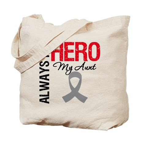 Brain Cancer Hero Aunt Tote Bag