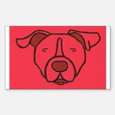 Red Pit Head Rectangle Decal