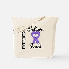Hodgkins HopeBelieveFaith Tote Bag