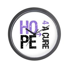 Hodgkins Hope For Cure Wall Clock