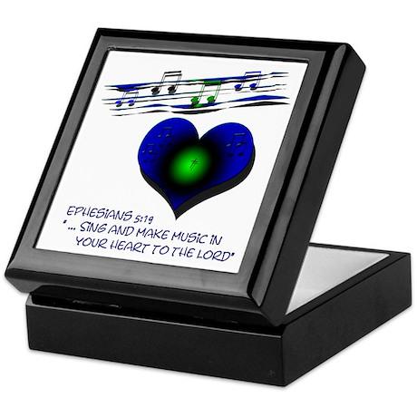 """Eph 5:19 """"Sing & Make Music"""" ~ Keepsake Box"""
