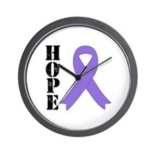 Hodgkin's Lymphoma Hope Wall Clock
