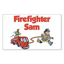 Firefighter Sam Rectangle Decal
