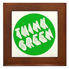 green think Framed Tile