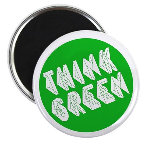 """green think 2.25"""" Magnet (100 pack)"""