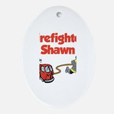 Firefighter Shawn Oval Ornament