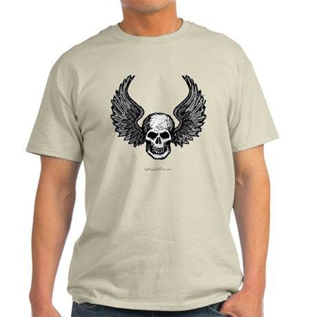 Winged Skull Light T-Shirt
