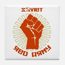 Soviet Red Army Fist Tile Coaster