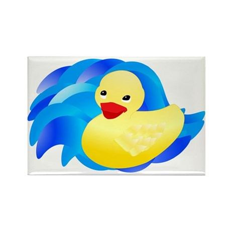 Rubber Ducky Rectangle Magnet (10 pack)