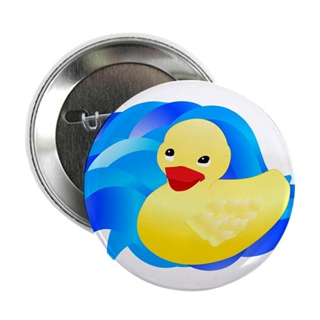 "Rubber Ducky 2.25"" Button (100 pack)"