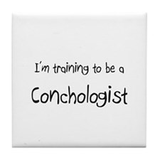 I'm training to be a Conchologist Tile Coaster
