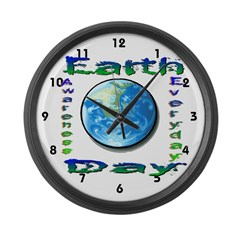 Earth Day 6 Large Wall Clock