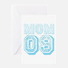 Blue Mom 09 Varsity Greeting Card