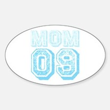 Blue Mom 09 Varsity Oval Decal