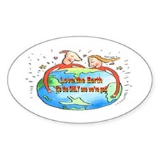 Hug The Earth Oval Decal