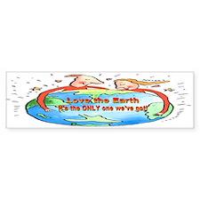 Hug The Earth Bumper Bumper Sticker