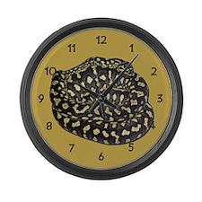 Jungle Carpet Python Large Wall Clock