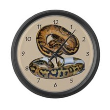 Piebald ball python Large Wall Clock