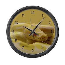 Albino Ball Python Large Wall Clock