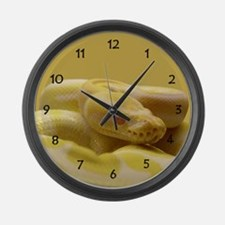 Albino Ball Python Large Wall Clock