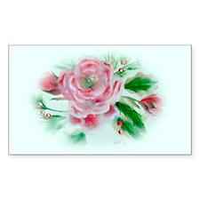 Christmas Camellia Rectangle Decal