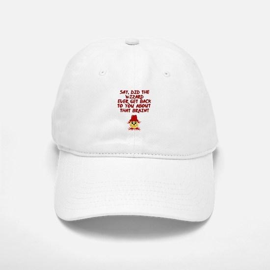 No brainer Scarecrow Baseball Baseball Cap