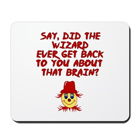 No brainer Scarecrow Mousepad