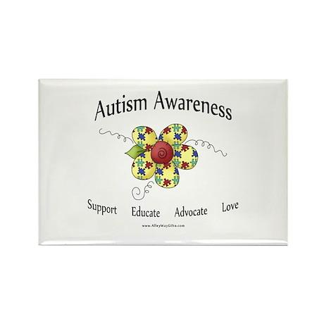 Autism Awareness (flower) Rectangle Magnet (10 pac