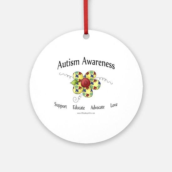 Autism Awareness (flower) Ornament (Round)