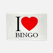 I (Heart) BINGO Rectangle Magnet