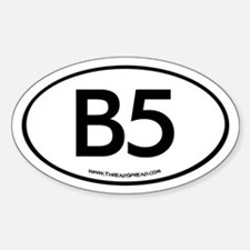 B5 Oval Decal