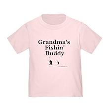 """""""Grandma's Fishin' Buddy"""" T"""