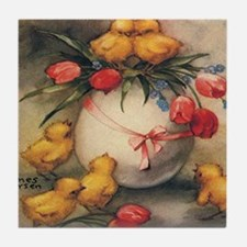 Vintage Easter Tile Coaster