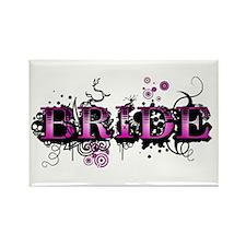 Bride, Grunge Design Rectangle Magnet