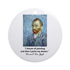 """Vincent Van Gogh"" Ornament (Round)"