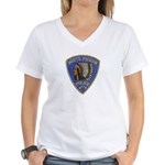White Pigeon Police Women's V-Neck T-Shirt