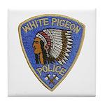 White Pigeon Police Tile Coaster
