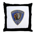 White Pigeon Police Throw Pillow