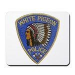 White Pigeon Police Mousepad