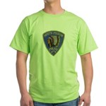 White Pigeon Police Green T-Shirt