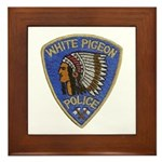 White Pigeon Police Framed Tile