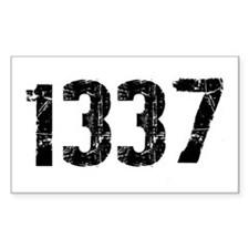 1337 Rectangle Decal