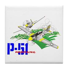 P-51 MUSTANG Tile Coaster