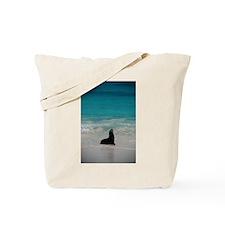 Sea Lion Silhouette Tote Bag