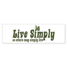 Live Simply Bumper Bumper Sticker