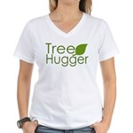 Tree Hugger Women's V-Neck T-Shirt