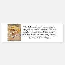 """""""Vincent Van Gogh"""" Bumper Bumper Bumper Sticker"""